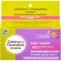 Kroger® Kids' Health Complete Animal Shaped Tablet Vitamins