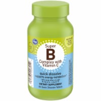 Kroger® Wild Berry Flavor Super B Complex with Vitamin C Dietary Supplement Quick Dissolve Tablets