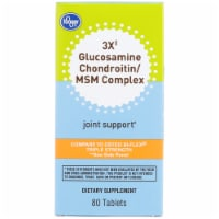 Kroger® 3X Glucosamine Chondroitin/MSM Complex Joint Support Dietary Supplement Tablets Bottle