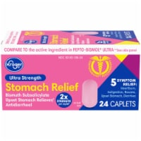 Kroger® Ultra Strength Stomach Relief Caplets 24 Count