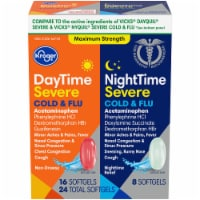 Kroger® DayTime & NightTime Maximum Strength Cold & Flu Relief Medicine Softgels 24 Count