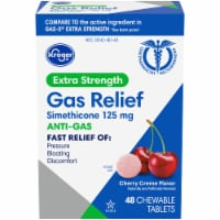 Kroger® Extra Strength Anti-Gas Cherry Creme Chewable Tablets 125mg 48 Count