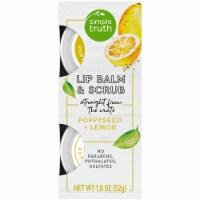 Simple Truth® Beauty Crate Poppyseed + Lemon Lip Balm & Scrub - 1.8 oz