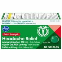 Kroger® Extra Strength Headache Relief Geltabs - 80 ct