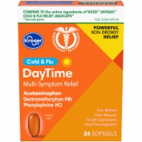 Kroger® Non-Drowsy DayTime Cold & Flu Softgels - 24 ct