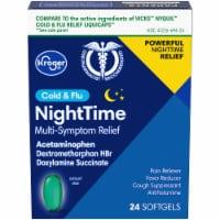 Kroger® NightTime Cold & Flu Softgels - 24 ct
