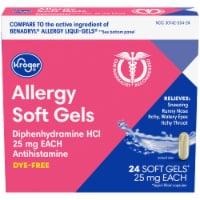 Kroger® Dye-Free Allergy Soft Gels 25mg - 24 ct