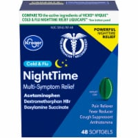 Kroger® Non-Drowsy Cold & Flu Nighttime Acetaminophen Caplets - 48 ct