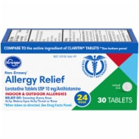 Kroger® 24 Hour Non-Drowsy Indoor & Outdoor Allergy Relief Tablets 10mg - 30 ct