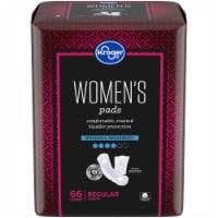 Kroger Women's Bladder Control Moderate Absorbency Pads - 66 ct
