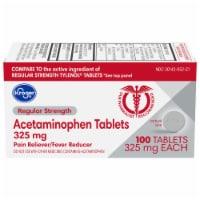 Kroger® Regular Strength Acetaminophen Pain Reliever & Fever Reducer Tablets 325mg - 100 ct
