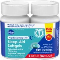 Kroger® Nighttime Sleep Aid Softgels Twin Pack - 192 ct