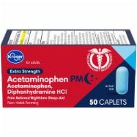 Kroger® Extra Strength Acetaminophen PM Caplets - 50 ct