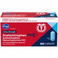 Kroger® Extra Strength Acetaminophen PM Caplets - 100 ct