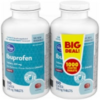 Kroger® Pain Reliever / Fever Reducer Ibuprofen 200 mg Coated Tablets Twin Pack - 1000 ct