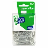 Office Works Giant Paper Clips - Silver