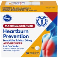 Kroger® Maximum Strength Acid Reducer Heartburn Prevention Tablets - 50 ct