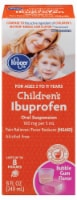 Kroger® Children's Ibuprofen Bubble Gum Flavor Oral Suspension