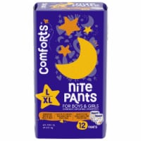 Comforts™ Nite Pants L-XL Boys & Girls Overnight Disposable Underpants - 12 ct