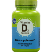 Kroger® Vitamin D3 Bone Supplement Softgels 2000 IU
