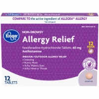 Kroger® Non-Drowsy 12 Hour Allergy Relief Tablets 60mg 12 Count
