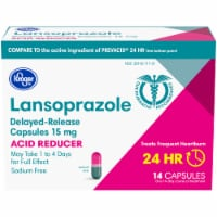 Kroger® Lansoprazole Acid Reducer Delayed Release Capsules 15mg Bottle