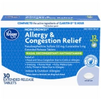 Kroger® 12 Hour Allergy & Congestion Relief Tablets - 30 ct