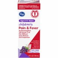 Kroger® Children's Pain & Fever Grape Flavor Liquid