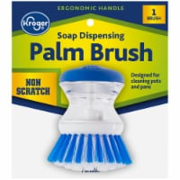 Kroger® Soap Dispensing Palm Brush - Blue/White