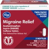 Kroger® Migraine Relief Pain Reliever Caplets 200 Count