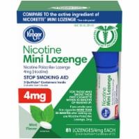 Kroger® Mint Mini Nicotine Lozenges 4mg