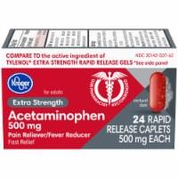 Kroger® Extra Strength Acetaminophen Rapid Release Caplets 500mg - 24 ct