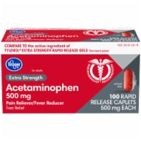 Kroger® Extra Strength Acetaminophen Rapid Release Caplets 500mg