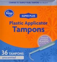 Kroger® Super Plus Plastic Unscented Tampons