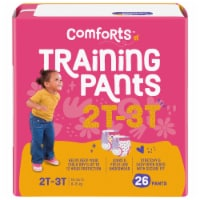 Comforts 2T-3T Girls Day & Night Training Pants