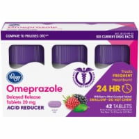 Kroger® Omeprazole Wild Berry Mint Acid Reducer Tablets 20mg