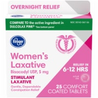 Kroger® Women's Stimulant Laxative Comfort Coated Tablets 5mg 25 Count