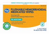 Kroger® Pre-Moistened Flushable Hemorrhoidal Medicated Wipes