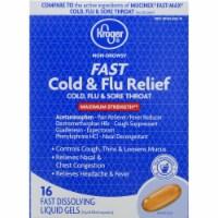 Kroger® Maximum Strength Non-Drowsy Cold & Flu Relief Dissolving Liquid Gels