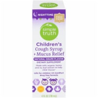 Simple Truth™ Children's Nighttime Cough Syrup and Mucus Relief Grape