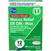 Kroger® Maximum Strength Mucus Relief ER DM-Max Extended Release Tablets 14 Count