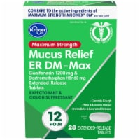 Kroger® Maximum Strength Mucus Relief ER DM-Max Extended Release Tablets 28 Count