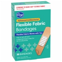 Kroger® Advanced Antibacterial 3/4 in x 3 in Fabric Bandages