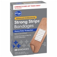 Kroger® Advanced Antibacterial Strong Strip Bandages Assorted Sizes 20 Count Box