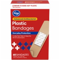 Kroger® Antibacterial Plastic Bandages 3/4 in x 3 in One Size