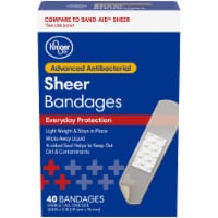 Kroger® Antibacterial Sheer Bandages 40 Count