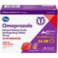 Kroger® Omeprazole Strawberry Flavor Acid Reducer Tablets 20mg