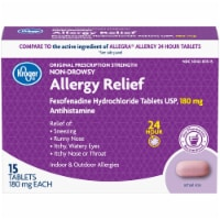 Kroger® 24 Hour Non-Drowsy Allergy Relief 180mg - 15 ct