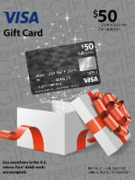 Visa $50 Gift Card ($4.95 activation fee)
