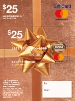 Mastercard $25 Gift Card ($3.95 activation fee)